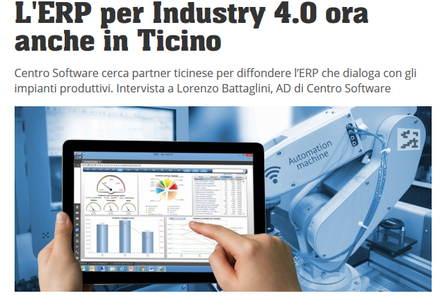 Ated Ticino e SAM ERP2 in Industry 4.0